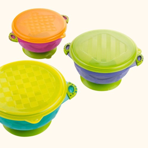 禾果嬰兒吸盤碗防摔輔食碗餐具組