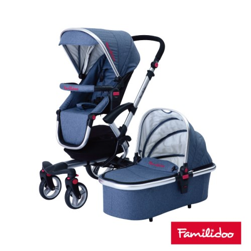 【Familidoo】城市高景觀嬰兒車NC-8880+專屬提籃