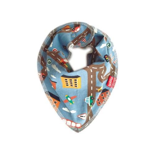 Babooi澳洲手工有機棉個性領巾 - 交通