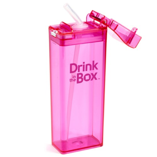 《Drink in the box 》Tritan兒童運動防漏吸管方形水杯(大)355ml 多色任選  ★堅固耐用抗衝擊 可裝新鮮果汁、牛奶★