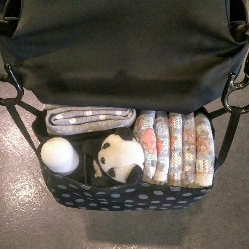 TiDi 黑底灰點點 萬用雙層防水分隔袋 袋中袋 推車適用
