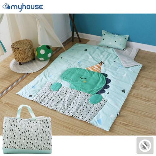 【MYHOUSE】韓國防蟎抗敏派對動物兒童睡袋 - 恐龍瑞奇