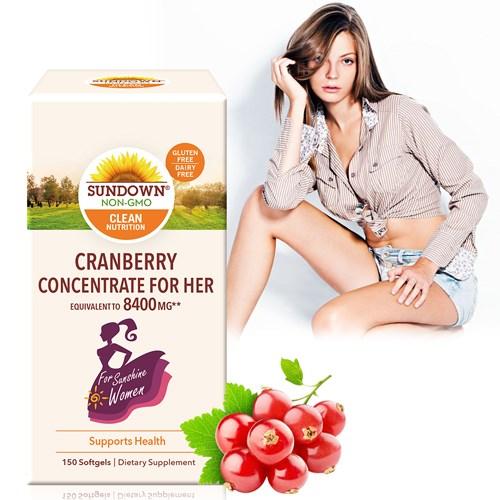【Sundown 日落恩賜】超級蔓越莓plus維生素D3軟膠囊(150粒/盒)