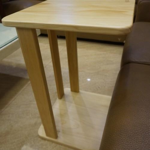 REAL實木玩家 沙發邊桌原木色