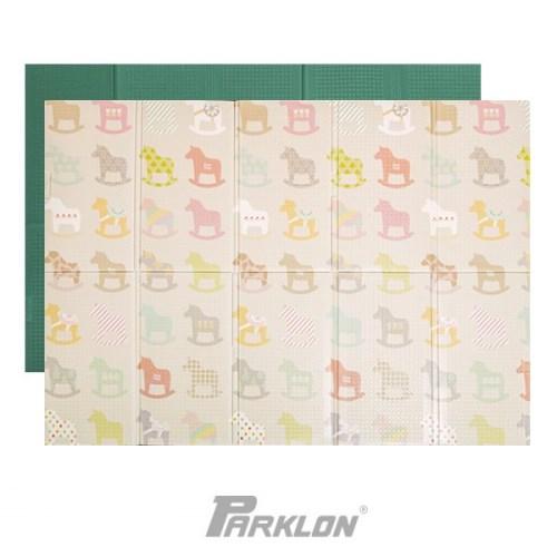 Parklon 韓國帕龍 攜帶式摺疊地墊 - 彩色木馬 140 x 200 x 1.2 cm