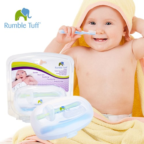 美國Rumble Tuff 瑞寶多-乳牙3階段訓練牙刷  嬰幼兒學牙刷 口腔護理組