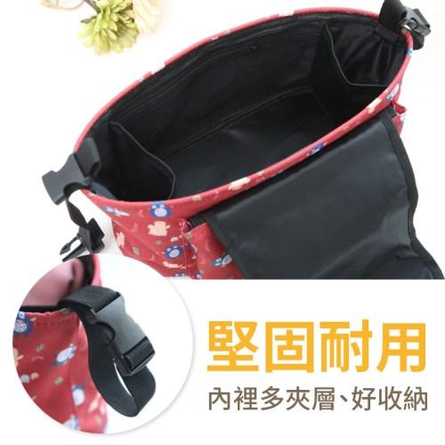 收納神器超值2入組↘多功能嬰兒床置物收納袋+手推車掛包