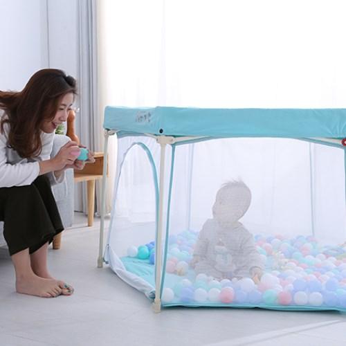HEXA海星遊戲圍欄(附蚊帳) - 快速折疊 | 不佔空間 安全圍欄 遊戲床