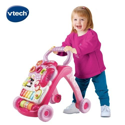 【Vtech】寶寶聲光學步車-粉色