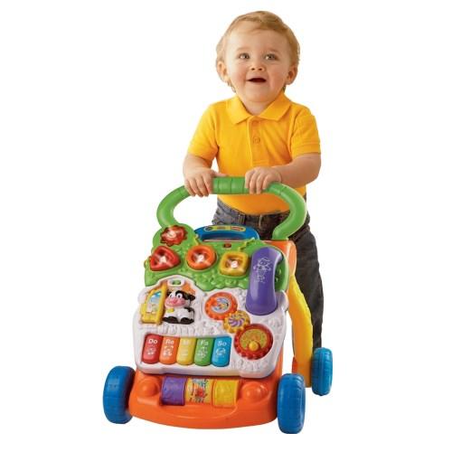【Vtech】寶寶聲光學步車★一車兩用 可拆式學習面板 獨家變速設計 呵護寶寶成長每一步★(3色可選)