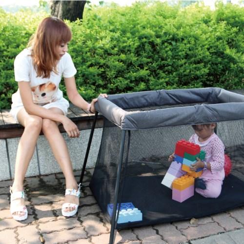 DELSUN ↘激省1270↘攜帶型遊戲床2.0升級單寧款 台灣製造