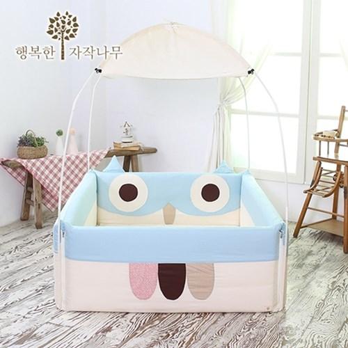 【 Babytiger虎兒寶 】The zazak 韓國手工製嬰幼兒遊戲床 貓頭鷹