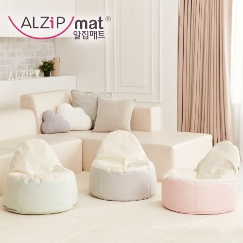 【ALZiPmat】韓國 EGG BEAN BAG 泡芙椅 - 藍莓泡芙