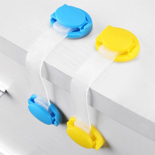 【10入】安全鎖抽屜鎖軟鎖-寶寶櫃門鎖短鎖