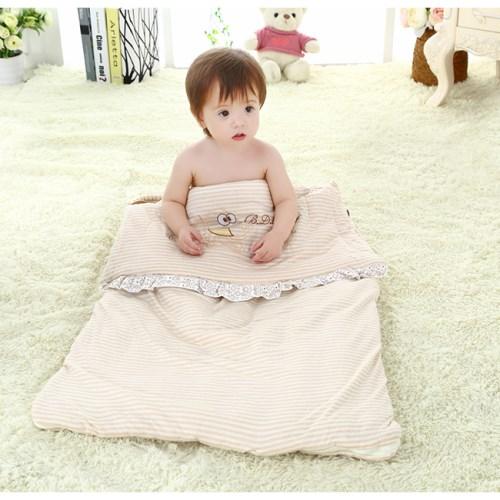 【AI NI BABY】天然彩棉-秋冬款嬰兒睡袋防踢被兒童被