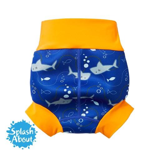 Brand New 3D Happy Nappy 全新3D游泳尿布褲 - 亮橘鯊魚 2018 新品上市《Splash About 潑寶》