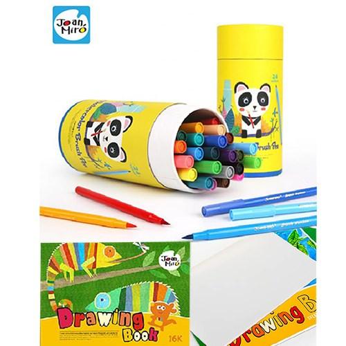 西班牙 Joanmiro 24色水彩軟毛筆+16K兒童經典繪本(一本)