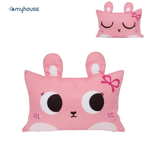 100%韓國生產製造【MYHOUSE】可機洗速乾防蟎抗敏可愛動物夥伴雙面枕頭套組(含枕心)