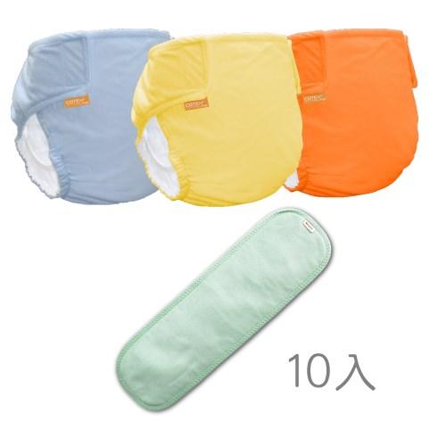 〔可透舒〕DB500布尿布優惠組(3褲+10白金尿墊)