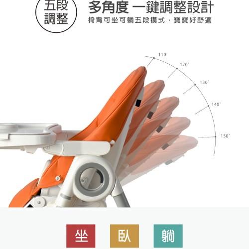 【Nipper】多功能可調式高腳餐椅-天空藍