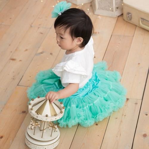 日安朵朵 女嬰童蓬蓬裙80cm- 多色可選(女童寶寶雪紡澎澎裙短裙)