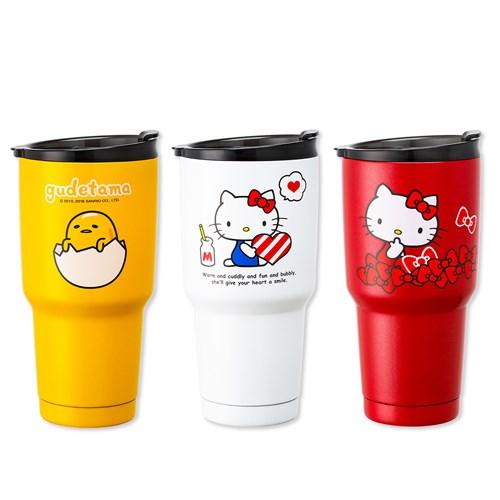 三麗鷗授權 Hello Kitty 蛋黃哥 316不鏽鋼 真空保冰保溫杯 2入 950ML 保冰 霸氣登場 飲料杯 水杯