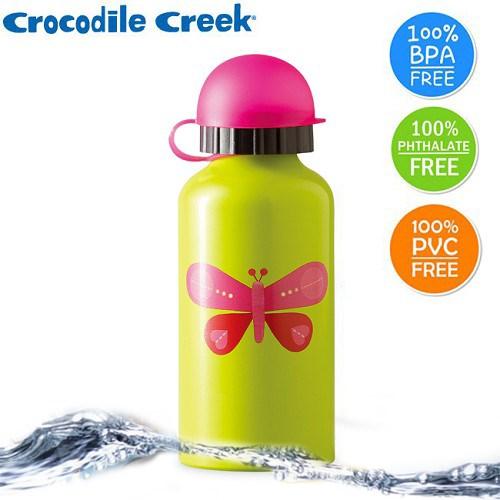 美國Crocodile Creek 兒童食品級不鏽鋼水瓶400ml-4款可選