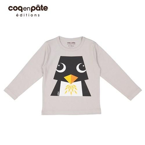 【COQENPATE】法國有機棉童趣 長袖 T-SHIRT - 企鵝