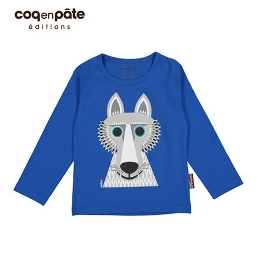 【COQENPATE】法國有機棉童趣 長袖 T-SHIRT - 野狼