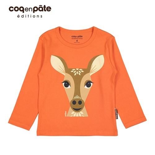 【COQENPATE】法國有機棉童趣 長袖 T-SHIRT - 鹿
