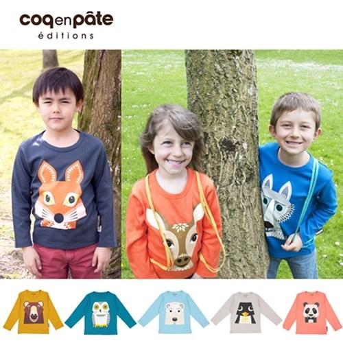 【COQENPATE】法國有機棉童趣 長袖 T-SHIRT - 狐狸