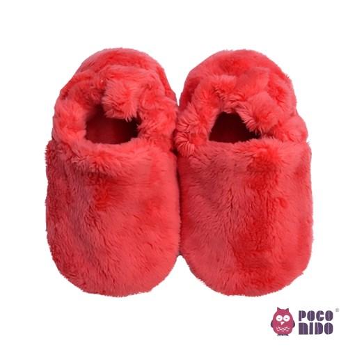 英國 POCONIDO 手工嬰兒絨絨鞋 (幸運紅)