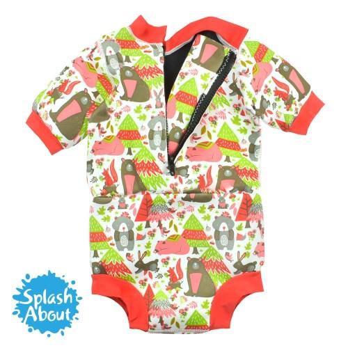 2019   新色單品《Splash About 潑寶》Happy Nappy Wetsuit 連身版游泳尿布褲 - 森林遊樂園