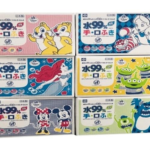 【日本LEC】迪士尼純水99.9%擦手口型濕紙巾(箱購60抽X20包)