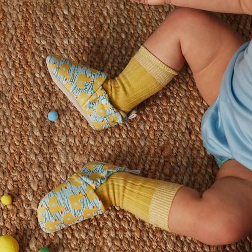 英國 POCONIDO 手工嬰兒鞋 (游泳的小鴨)【2019新款】