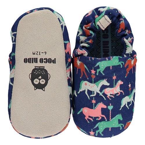 英國 POCONIDO 手工嬰兒鞋 (旋轉木馬) 【2019新款】