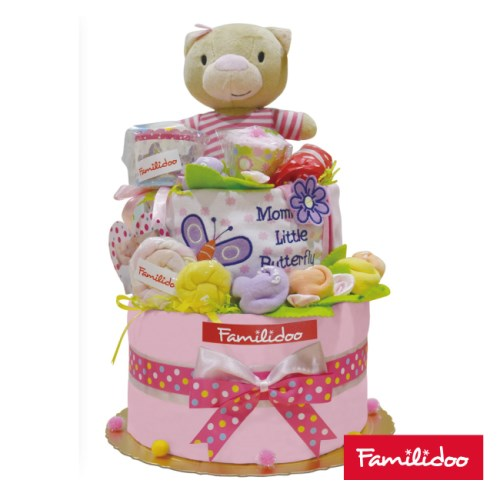 【Familidoo】新生兒禮盒-三層蛋糕樣式(米多熊 藍色or粉色)