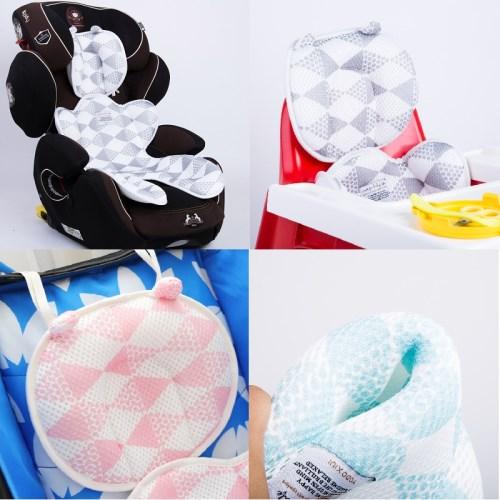 嬰兒推車3D透氣彈性網眼布嬰兒推車涼席(兩款可選)