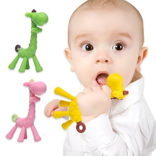 【2入】嬰兒長頸鹿磨牙固齒器兒童磨牙棒不含bpa