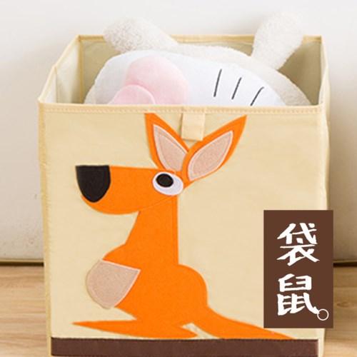 E.dot 可愛童趣無蓋摺疊收納箱(三入組)