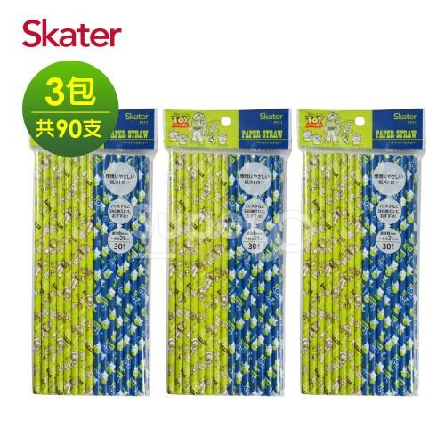 Skater環保紙吸管(6mm)-玩具總動員*3