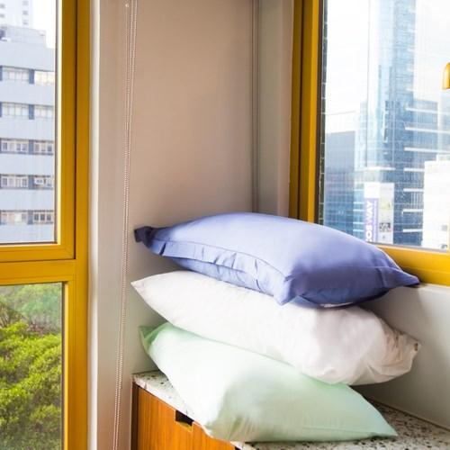 天然竹絲枕套禮盒組-信封式設計白色