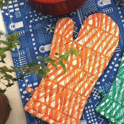 「南洋棕櫚」隔熱手套 (粉橘)