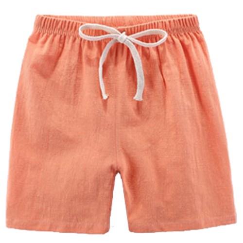 【3件入】兒童短褲 夏季竹節棉薄款睡褲棉麻短褲