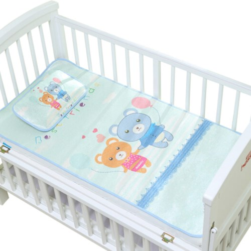 嬰兒床冰絲涼蓆 幼兒園兒童網眼透氣枕頭+床墊席子