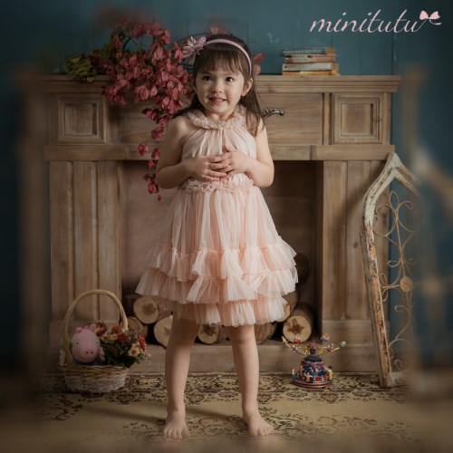 MiniTutu 雪紡公主洋裝(淡粉)