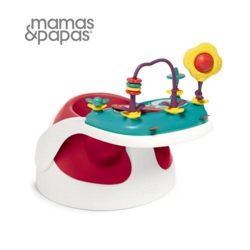 【Mamas Papas】二合一育成椅v2-小丑紅(附玩樂盤)