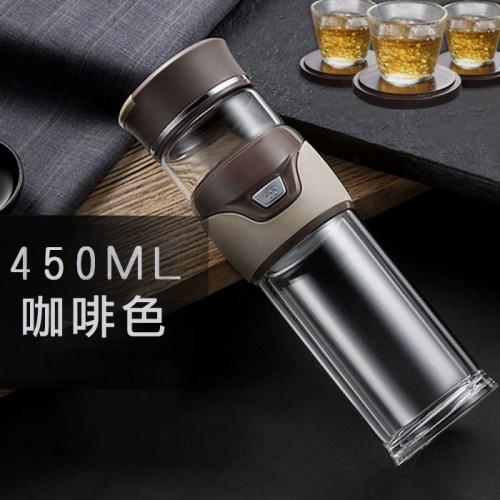 便攜型一鍵茶水分離雙層泡茶杯