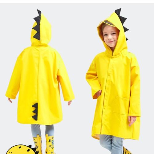 E.dot 小恐龍造型兒童雨衣S~XXL(二色選)