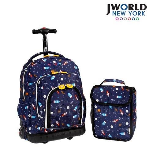 【JWorld】拉桿後背兩用書包旅行箱(太空飛梭)